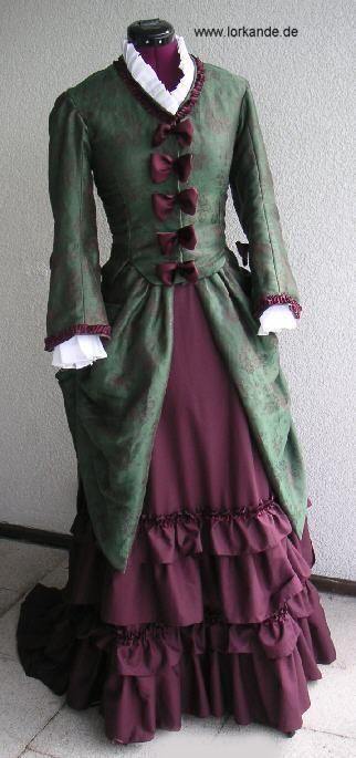 lorkande fruehe tournuere tageskleid kleider viktorianische