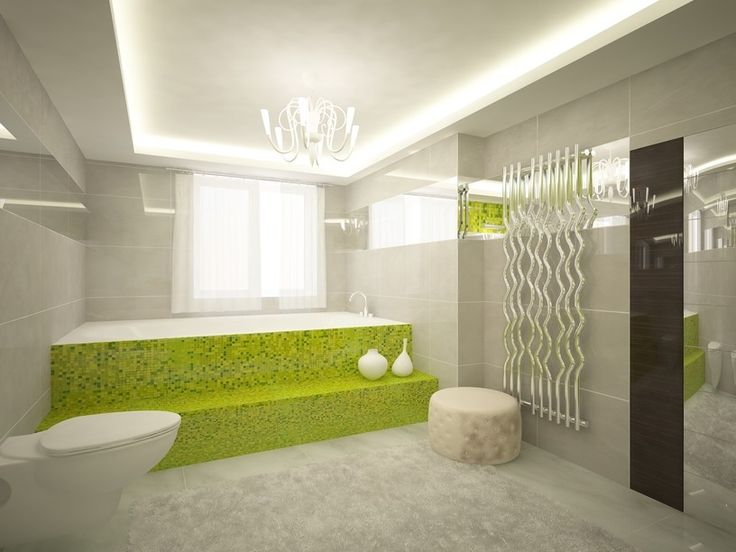 Großes badezimmer mit schritt schritt nach kahns