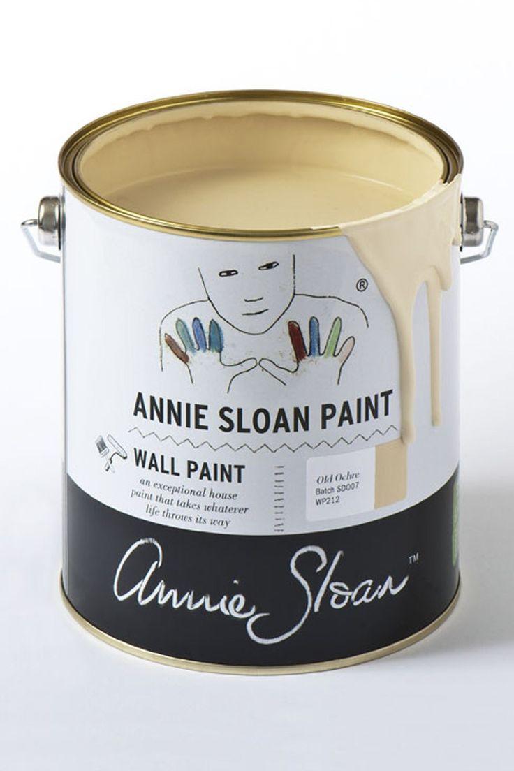 Annie Sloan Wall Paint Old Ochre de muurverf die u makkelijk zonder spetters kunt aanbrengen en afneembaar is zodat u het in iedere ruimte in huis kunt gebruiken.