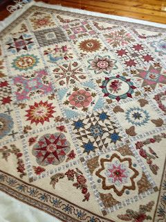 """Katrina's Quilting blog - quilt by Moreen Dainty, pattern Di Ford """"Antique Wedding Sampler"""""""