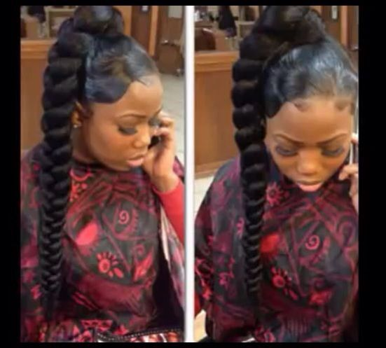 18 best weave updos images on pinterest updos buns and weaving braiding ponytail weave updos pmusecretfo Image collections