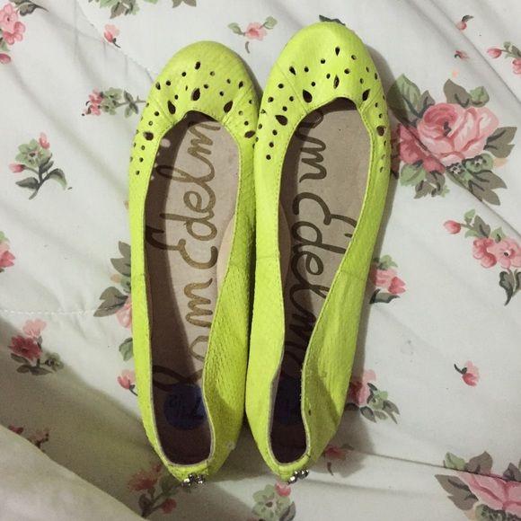Sam Edelman Neon flats New !!!! Brand new never worn Sam Edelman Shoes Flats & Loafers