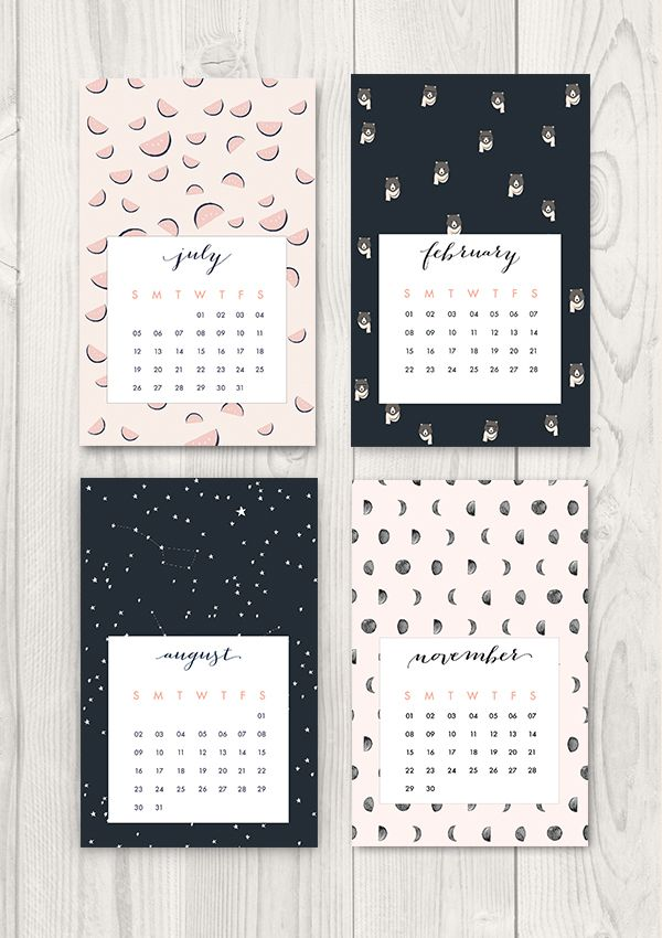 FREE PRINTABLE 2015 CALENDAR from the Oh the Lovely Things blog.