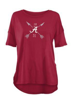Royce University Of Alabama Arrow Printed Short Sleeve Tee - Crimson - Xl