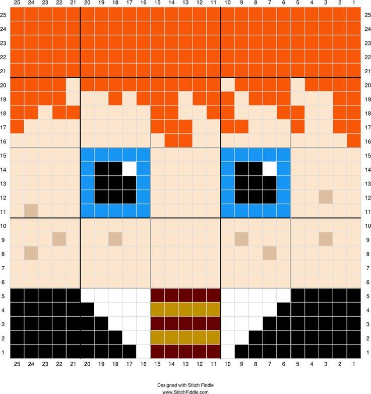 Ron Weasley | Designed by PixiTrix (Kimberly Allard) | Stitch Fiddle - Stitch…