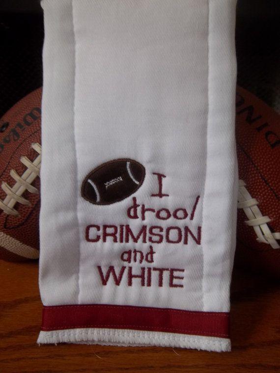 Drool Crimson and white