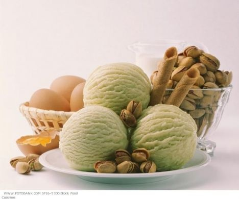 the real Sicilian Pistachio Ice-cream: Pistachios Icecream