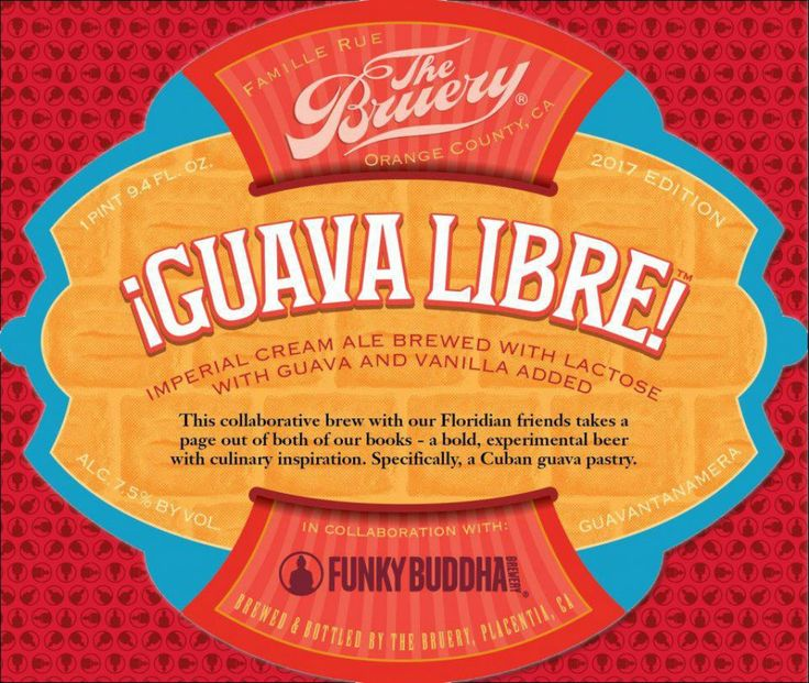 The Bruery / Funky Buddha - Guava Libre http://www.beer-pedia.com/index.php/news/19-global/4419-the-bruery-funky-buddha-guava-libre #beerpedia #thebruery #funkybuddha #creamale #beerblog #beernews #newrelease #newlabel #craftbeer #μπύρα #beer #bier #biere #birra #cerveza #pivo #alus