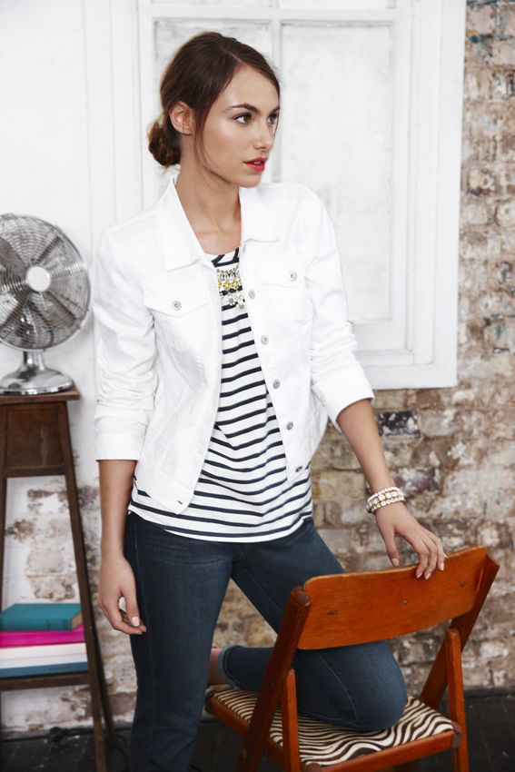 1000  ideas about White Denim Jackets on Pinterest | Denim jackets ...