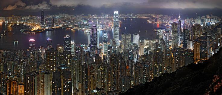 Hong Kong SkylineHong Kong Skyline, Night Skylinehdr, Hongkong, Cities, China Photography, Places, Kong Night, Beautiful Photography, Photography Skyline