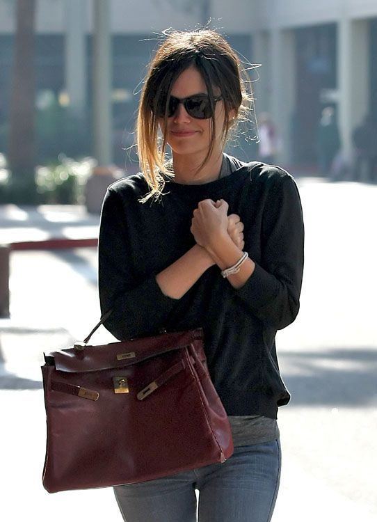 My personal favorite bag...the oxblood Kelly bag. Love, love, love