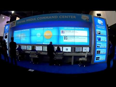 YouTube video of the Social Media Command Centre powered by Salesforce.com at CES 2012