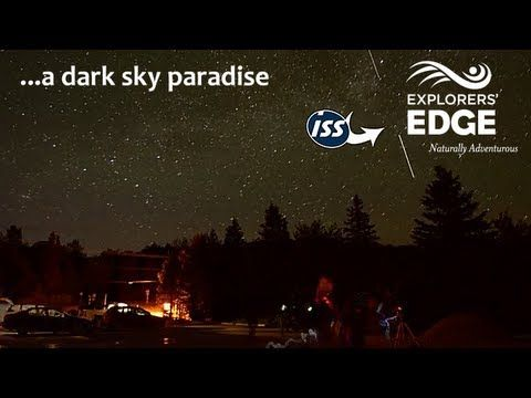 A dark sky paradise, stargazing in Algonquin Park watching the ISS pass over head. - YouTube