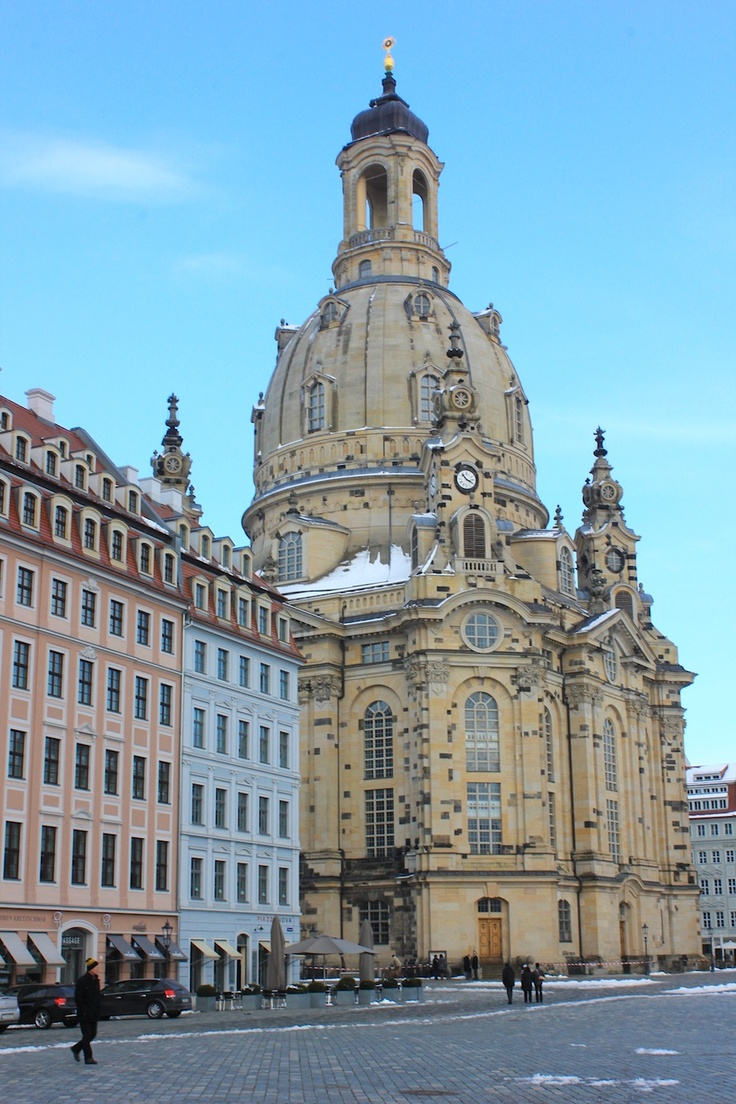 March 14, 2013. The Frauenkirche Church in Dresden's old town (Altstadt) is full of art and beauty. www.traveladept.com