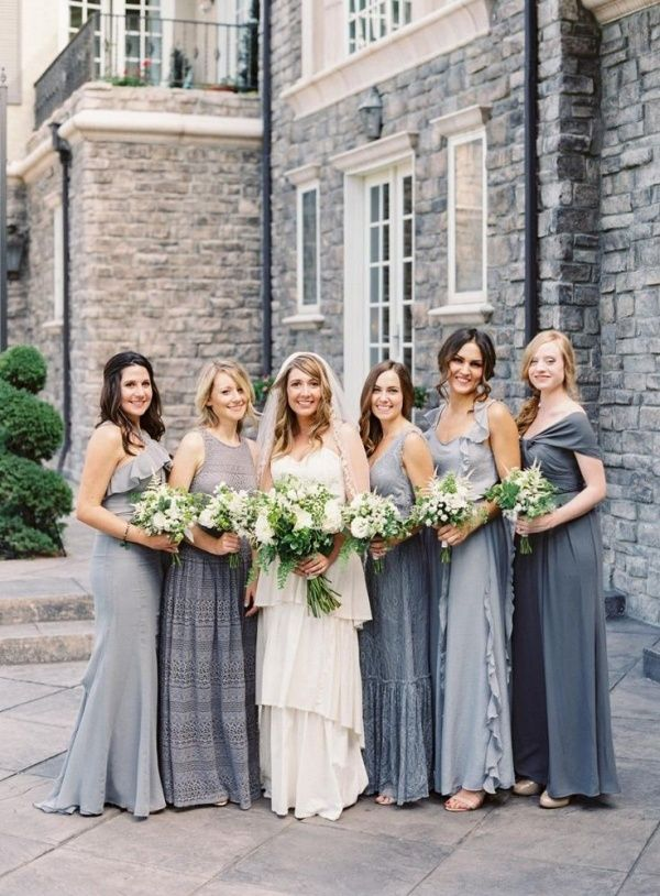 Best 25 steel blue bridesmaid dresses ideas on pinterest for Wedding dress shades of white