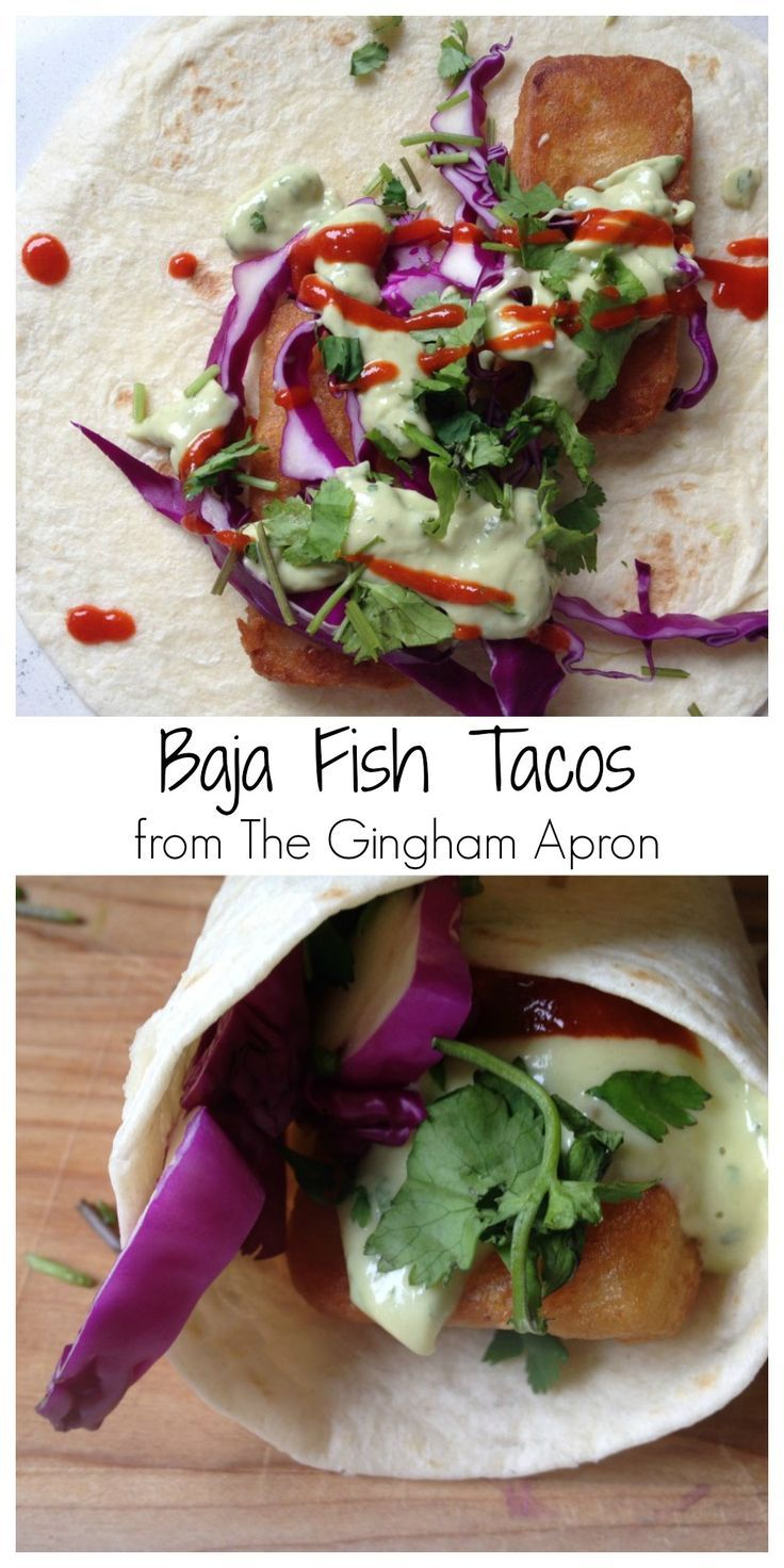 Baja Fish Tacos with Avocado Cream Sauce: fresh, flavorful, delicious!