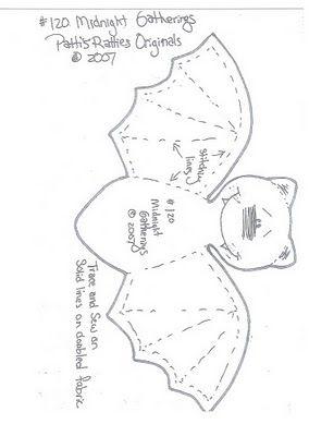 murcielagos en fieltro | carito vargas