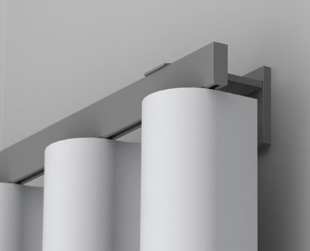 The Bespoke Track Collection offers the ultimate in custom curtain track, with the elegant look of a pole but the slick functionality of a track system