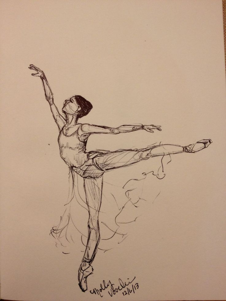 Ballet dancer. Arabesque. MGV