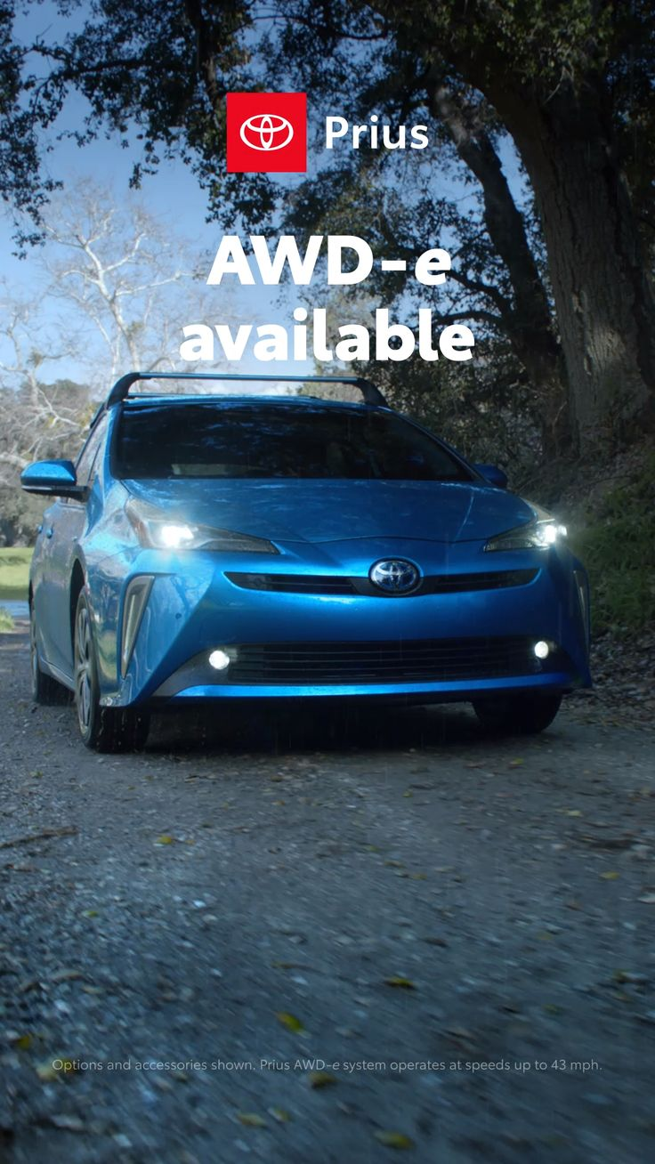 No fun left behind in the Prius with available AWDe