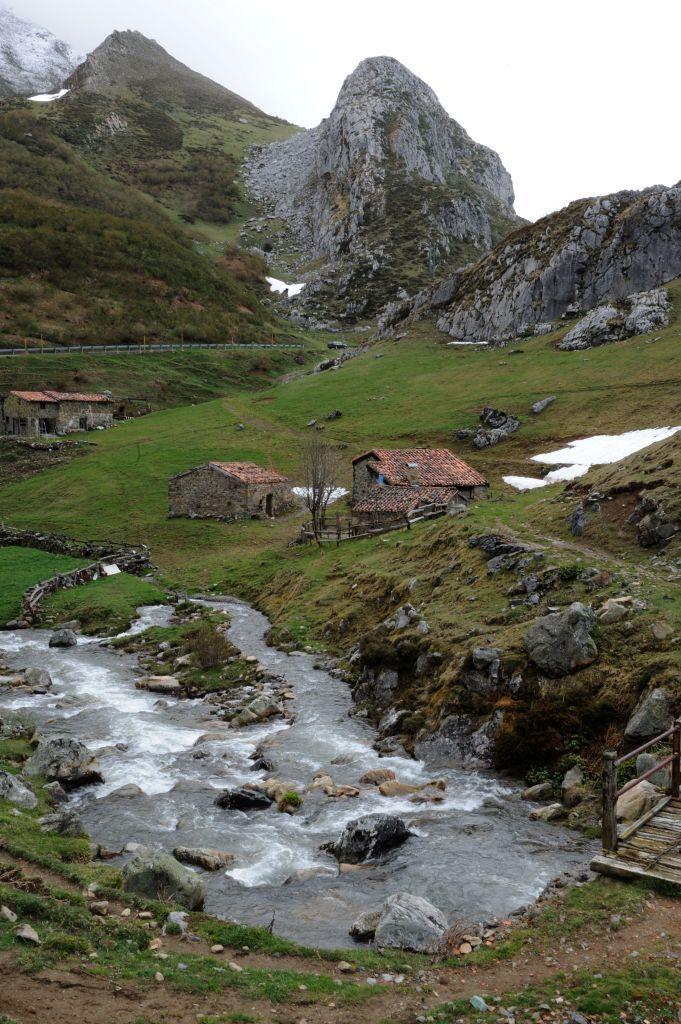 Paisaje del Puerto La Braña, en el municipio de Aller cerca de la estación invernal de Fuentes de Invierno.