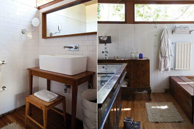 Imagenes De Baño En Cama:En el baño, banco 'Taylor' (ambos de Net Muebles) En el