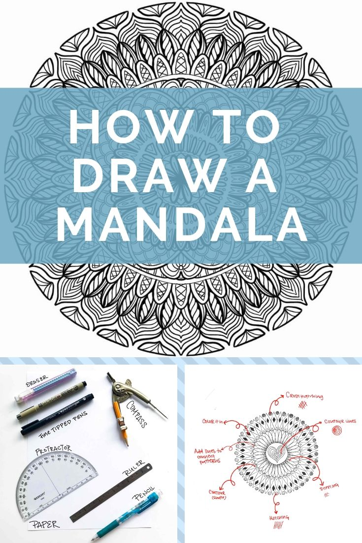 How To Draw A Mandala The Complete Guide Mandala Art Lesson