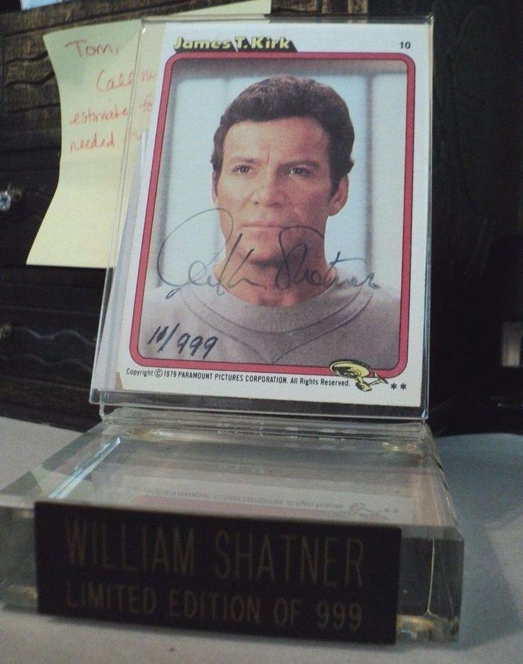 SUPER RARE!  William Shatner Hand Signed Autographed L E Rookie Card! Star Trek.
