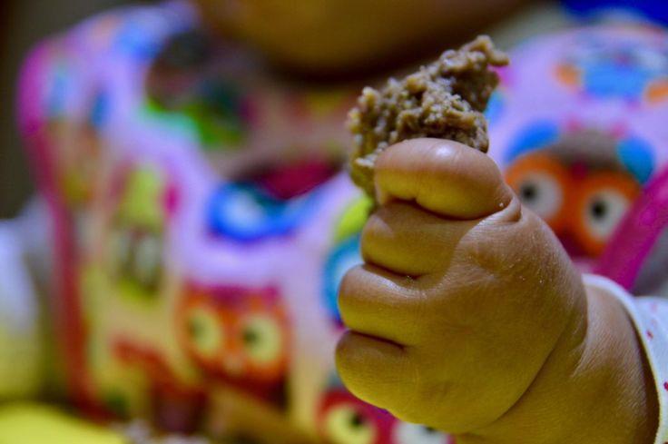 Une recette de burgers pour bébés qui ne contient que 3 ingrédients. Parfait pour encourager l'alimentation autonome du bébé (DME). La plus simple!