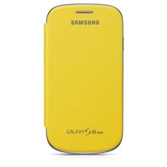 Etui typu notebook, wykonane z wysokiej jakości materiałów syntetycznych, przeznaczone do Samsung Galaxy S III Mini. Przedni panel pomaga ochraniać wyświetlacz przed zarysowaniami i zabrudzeniami. Tylna klapka zastępuje standardową pokrywę baterii.  Specjalnie stworzony otwór, umożliwia rozmowę nawet wtedy, kiedy etui jest zamknięte. Również naładowanie urządzenia nie wymaga zdejmowania futerału.  Produkt w kolorze żółtym