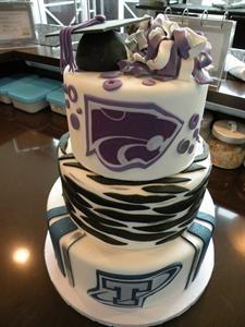 .: Jake Graduation, Cakes Ideas, High Schools Graduation, Grad Cakes, Cakes Jpg 600 800, Cakes Denver, Custom Cakes, Schools Logos, Graduation Cakes Jpg