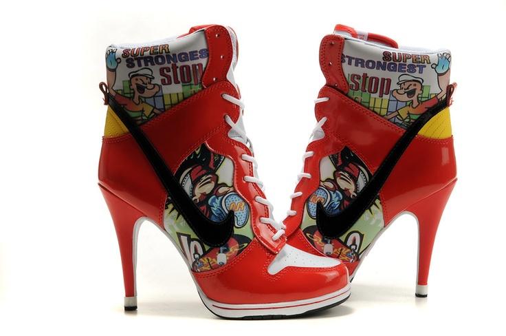 Nike Dunk Heels Cartoon High  Top Heels. Attractive High Heels.