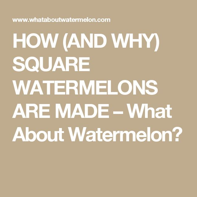 Best 20 square watermelon ideas on pinterest small - Square watermelons how and why ...