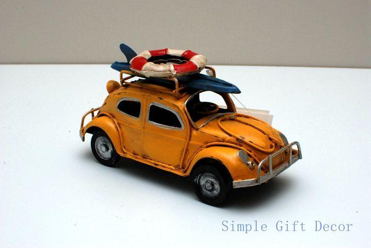 Vintage Car model Yellow 1016