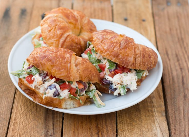 Our Favorite Chicken Salad Croissant Sandwiches - Oh Sweet Basil