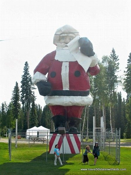 North Pole, Alaska - This fiberglass figure is a couple of feet taller, standing at 42 feet, which makes it the World's Largest Santa.