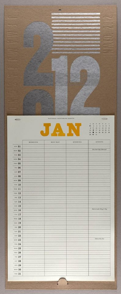 wall calendar . etsy$25