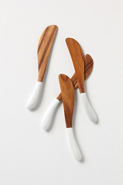 two toned wood spreaders ++ anthropologie