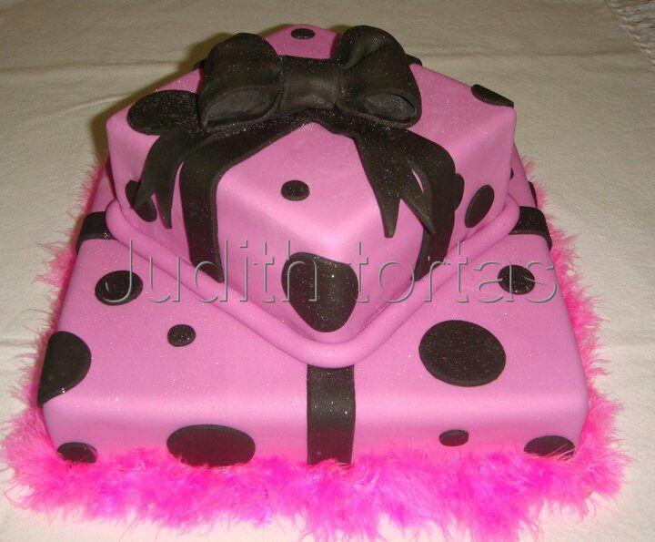 Torta/cake. Lunares con lazo. | Tortas para Mujeres/Woman | Pinterest