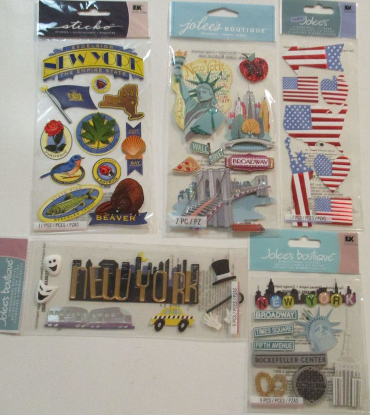 Jolee's Boutique Scrapbooking Stickers Lot NEW YORK City Statue of Liberty #JoleesBoutiqueSticko