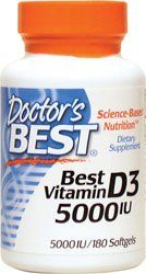 The Product Best Vitamin D3, 5000 IU, 180 Softgels – Doctor's Best – UK Seller  Can Be Found At - http://vitamins-minerals-supplements.co.uk/product/best-vitamin-d3-5000-iu-180-softgels-doctors-best-uk-seller/