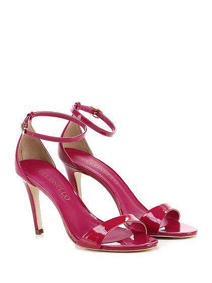 Cecconello - Sandalo alto - Donna - Sandalo alto in vernice con cinturino alla caviglia. Tacco 95. - FUXIA - € 149.00