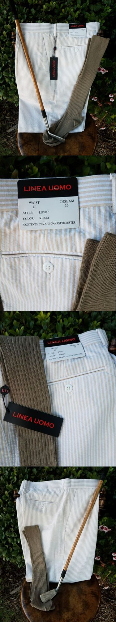 Other Golf Clothing 158939: Golf Knickers 40 New! Linea Uomo!!! Cotton Poly W Lining! New Socks! Nice! -> BUY IT NOW ONLY: $34.95 on eBay!