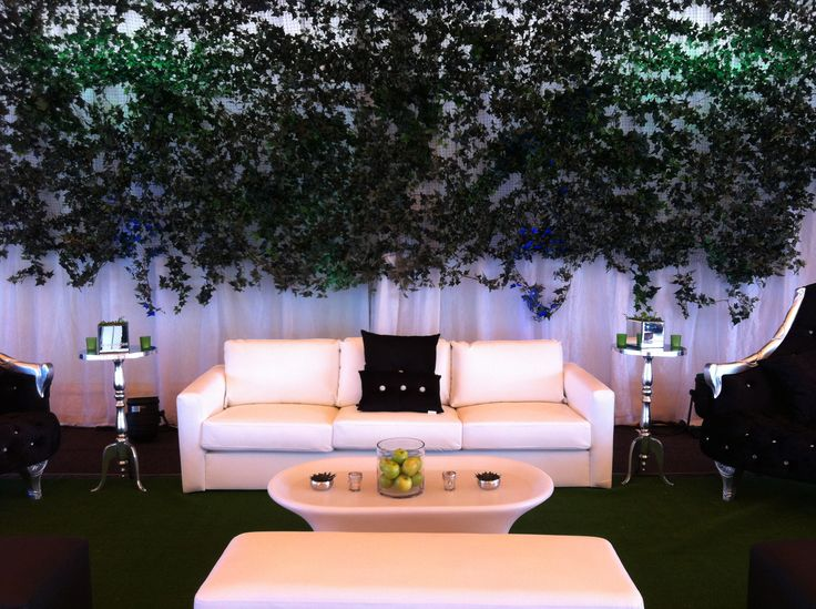 Lounge and ivy wall