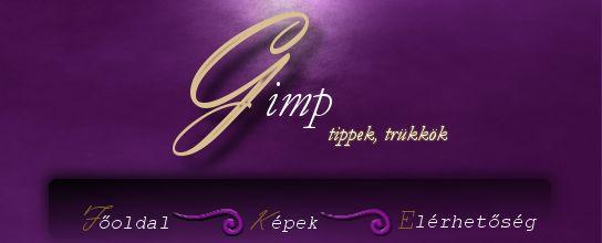 Egyszerű fejléc, menüvel - gimp.qwqw.hu