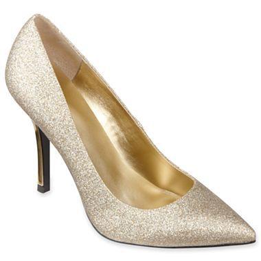 worthington 174 maggie womens glitter pumps jcpenney kpi