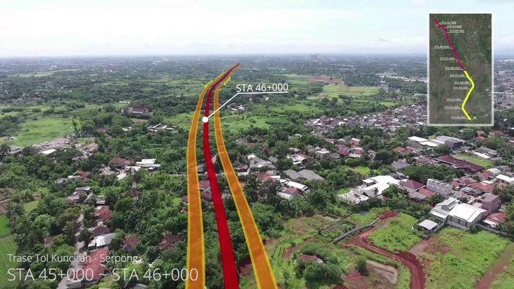 Drone Jalan Tol Kunciran   Serpong