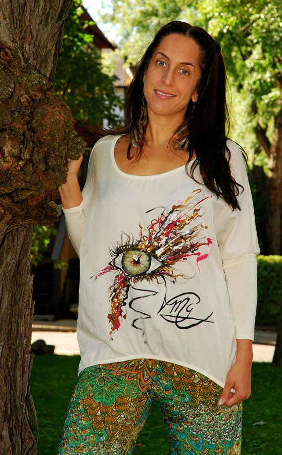 The Painter's Eye Silk Top - Hand Painted