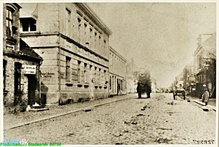arkiv.dk | Danmarksgade, 50 omkring 1890. Frederikshavn. 1890