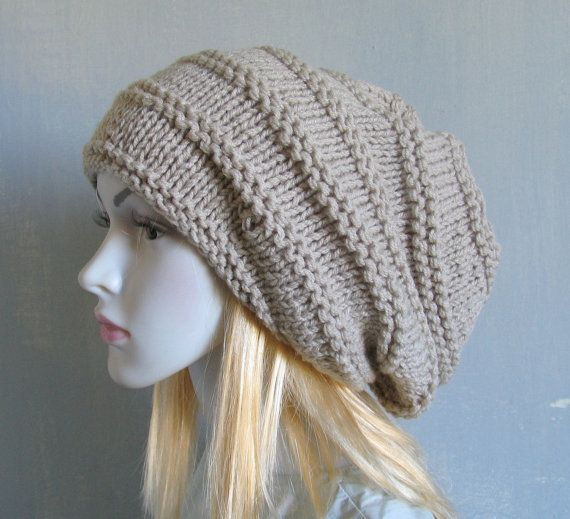 Super Slouchy Beanie Big Slouch Baggy Hat Winter Adult Chunky